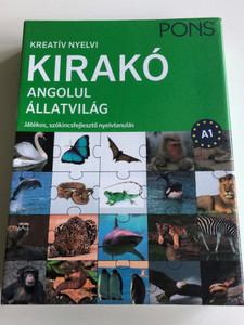 Kreatív nyelvi kirakó angolul - Állatvilág - Játékos, szókincsfejlesztő nyelvtanulás / PONS A1 level English Creative Language Learning - Animals / 20 piece puzzle, Animal world vocabulary, Dynamic colorful pictures (5999550890009.)