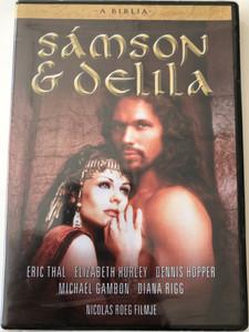The Bible: Samson and Delilah DVD 1996 A Biblia: Sámson és Delila / Directed by Nicolas Roeg / Starring: Eric Thal, Elizabeth Hurley, Dennis Hopper, Michael Gambon, Diana Rigg (5999546332513)