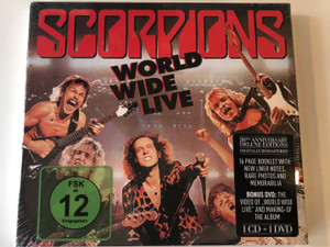 Scorpions – World Wide Live / 50th anniversary Deluxe Editions / 16 Page Booklet With New Liner Notes, Rare Photos And Memorabilia / Bonus DVD: The Video of ''World Wide Live'' And Making-of The Album / BMG Audio CD + DVD CD 2015 / 4050538159523