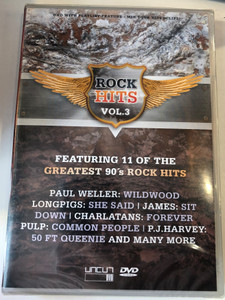 Rock Hits Vol. 3 DVD Featuring 11 of the greatest 90's rock hits / Paul Weller, Longpigs, James, Charlatans, P.J. Harvey / Uncut DVD (801735404282)