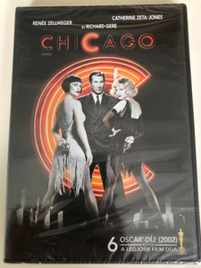 Chicago the Musical DVD 2002 / Directed by Rob Marshall / Starring: Renée Zellweger, Catherine Zeta-Jones, Richard Gere, Queen Latifah / With Hungarian extras (5999075602385)