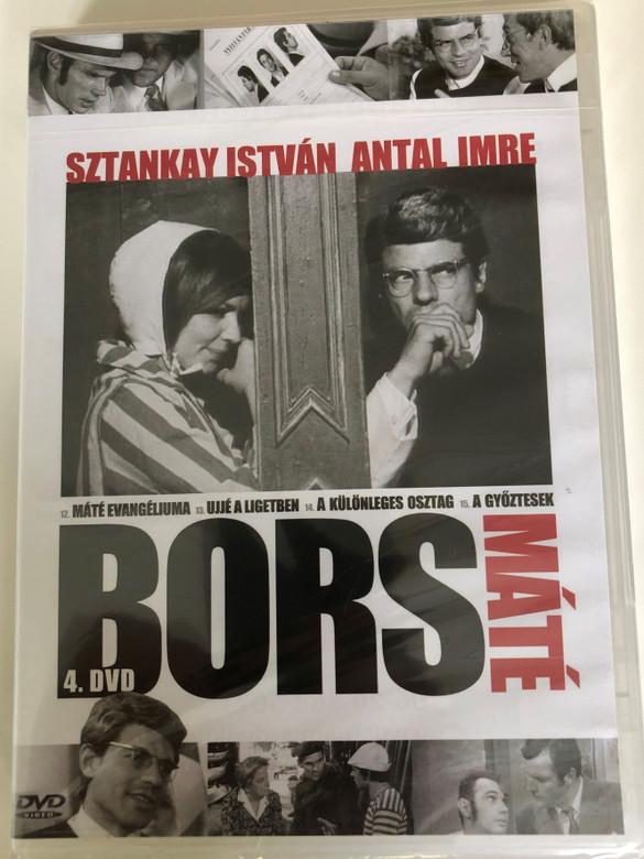 Bors 4. DVD 1968 Bors Máté / Directed by Herskó János / Sztankay István, Antal Imre, Rajz János, Madaras József / Hungarian TV Series / Episodes 12-15 (5990502068910)