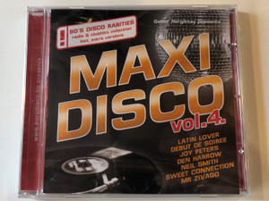 Gabor Hargittay presents Maxi Disco Vol. 4. / Latin Lover, Debut De Soiree, Joy Peters, Den Harrow, Neil Smith, Sweet Connection, Mr Zivago... / 80's Disco Rarities radio & clubhits collection incl. extra versions / Hargent Media Audio CD 2010 / CD HGPOL 783