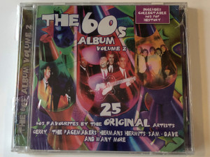 The 60s Album - Volume 2 / 60s Favourites By The 25 Original Artists / Gerry & The Pacemakers, Herman's Hermits, Sam & Dave, and many more / Includes Collectable 60s Pop History / Going For A Song Audio CD / 5033107100828