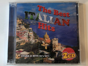 The Best Italian Hits / Stars & Hits 80's/90's / Frontline Productions & Records 2x Audio CD / 9568775002816