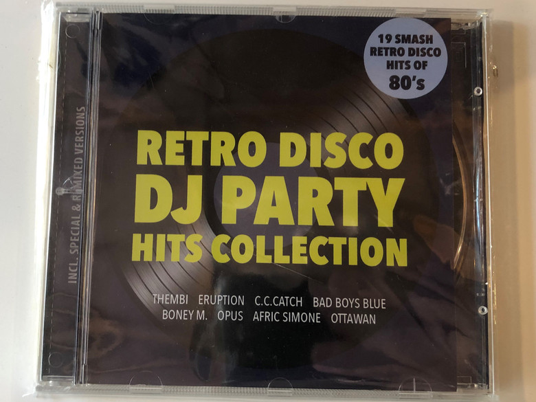 Retro Disco Dj Party Hits Collection / Thembi, Eruption, C.C.Catch, Bad Boys Blue, Boney M., Opus, Afric Simone, Ottawan / 19 Smash Retro Disco Hits Of 80's / Retro Records Audio CD / RR CD0601B