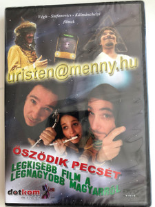 Uristen@menny.hu (2000) - Legkisebb film a legnagyobb magyarról (2002) - Öszödik Pecsét (2007) 3 Hungarian films on 1 disc / Directed by Végh, Stefanovics, Kálmánchelyi / Audio commentary, interviews, bloopers (5996051439485)