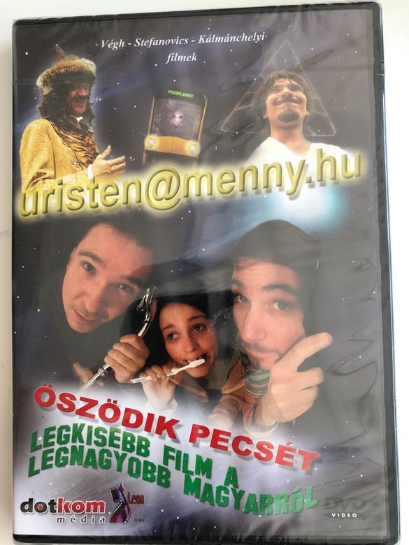 Uristen@menny.hu (2000) - Legkisebb film a legnagyobb magyarról (2002) - Öszödik Pecsét (2007) 3 Hungarian films on 1 disc / Directed by Végh, Stefanovics, Kálmánchelyi / Audio commentary, interviews, bloopers (5996051439485)