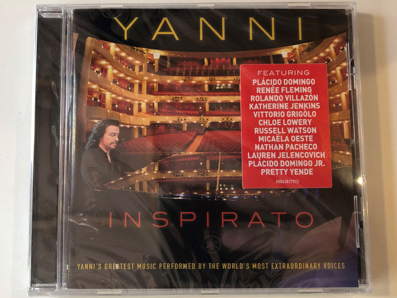 Yanni – Inspirato / Yanni's Greatest Music Performed by The World's Most Extraordinary Voices / Featuring: Placido Domingo, Renée Fleming, Rolando Villazón, Katherine Jenkins, Vittorio Grigolo,... / YanniWorks Audio CD 2014 / 88843037922