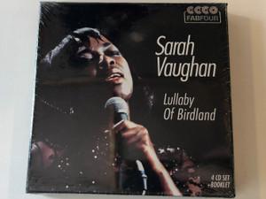 Sarah Vaughan – Lullaby Of Birdland / Membran 4x Audio CD Stereo, Box Set + Booklet / 233328