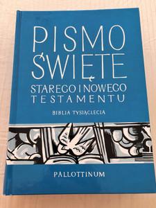 Pismo Święte - Biblia Tysiaclecia / Polish Catholic Millenium Holy Bible / Pallottinum 2014 / Przeklad z Oryginalu / Blue Hardcover (9788370144197)