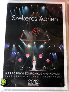 Szekeres Adrien DVD 2012 Live Karácsonyi Szimfonikus Nagykoncert / Papp László Budapest Sportaréna / 2012 December 26. / Directed by Kiss Gábor / Magneoton (5999886038168)
