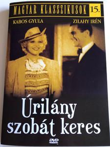 Lady Seeks a Room DVD 1937 Úrilány szobát keres / Directed by Béla Balogh / Starring: Zilahy Irén, Somló István, Ajtay Andor, Kabos Gyula, Zilahy Irèn / Magyar Klasszikusok 15. (5999544560277)