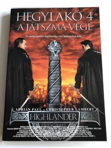 Highlander: Endgame Director's Cut DVD 2000 Hegylakó 4 - A játszma vége / Directed by Doug Aarniokoski / Starring: Christopher Lambert, Adrian Paul, Bruce Payne, Lisa Barbuscia (5996357339618)