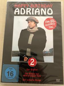 Happy birthday Adriano 2 DVD 2017 Zum 80. Geburtstag / Der Bluffer, Der Kleine mit dem grossen Tick, Der scharfe Husar / Special Collectors Edition / Directed by Sergio Corbucci, Pasquale Festa Campanile (4059251162049)