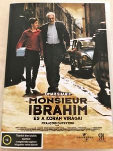 Monsieur Ibrahim et les fleurs du Coran DVD 2003 Monsieur Ibrahim és a Korán virágai / Directed by Francois Dupeyron / Starring: Omar Sharif, Pierre Boulanger, Gilbert Melki, Isabelle Renauld (5999544150928)