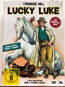 Terence Hill - Lucky Luke 5xDVD 1992 German release complete series - Die Komplette serie / Includes Daisy Town feature film - Der Neue Mann in Daisy Town / Directed by Terence Hill, Ted Nicolaou, Richard Schlesinger (4049834007850)