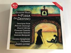 Giuseppe Verdi – La Forza Del Destino / Leontyne Price, Placido Domingo, Sherrill Milnes, Florenza Cossotto, Bonaldo Giaiotti, Gabriel Bacquier / London Symphony Orchestra, James Levine / RCA Victor 3x Audio CD, Set 1997 Stereo / 743213950228