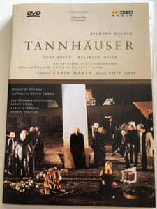 Richard Wagner - Tannhäuser DVD 1995 Opera in three acts / Directed by David Alden, Brian Large / Bayerisches Staatsorchester - Conducted by Zubin Mehta / ArtHaus Musik (4006680100142)