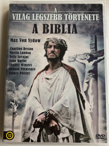 The Greatest Story Ever Told DVD 1965 A világ leszebb története - A Biblia / Directed by George Stevens / Starring: Max von Sydow, Michael Anderson Jr. Carrol Baker, Ina Balin, Pat Boone (5999546336931)