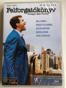 Stranger than Fiction DVD 2006 Felforgatókönyv / Directed by Marc Forster / Starring: Will Ferrell, Maggie Gyllenhaal, Dustin Hoffman, Queen Latifah (5999544155749)