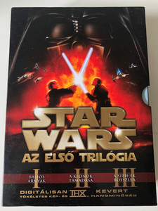 Star Wars The first trilogy DVD SET Star Wars - Az első trilógia / Phantom Menace, Attack of the Clones, Revenge of the Sith / Written & Directed by George Lucas / Starring: Ewan McGregor, Liam Neeson, Natalie Portman, Samuel L Jackson (5996255728705)