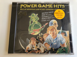Power Game Hits / Best of adventure and action computer game tracks / Monkey Island Theme, Mad Tv Theme, Turrican II Theme, Rock'n Roll Theme, Z-out Theme / Eurostar ‎Audio CD 1992 / 39810502