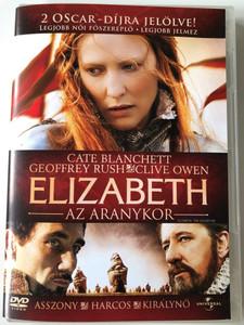 Elizabeth - The Golden Age DVD 2007 Elizabeth - Az aranykor / Directed by Shekhar Kapur / Starring: Cate Blanchett, Geoffrey Rush, Clive Owen (5996051050239)