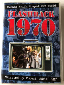 Flashback 1970 Events Which Shaped our world DVD / Narrated by Robert Powell / Why was Apollo 13 unlucky? Which 'Beatle' had his hair cut? / DVD 901752 (8711539017521)