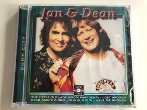 Jan & Dean – Surf City / The Litle Old Lady (From Pasadena), I Get Around, Dead Man's Curve, Fun Fun Fun, Help Me Rhonda / Life Time Records Audio CD / LT 5087