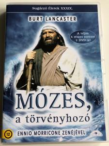 Moses the Lawgiver 2xDVD Mózes a törvényhozó / A teljes 6 részes sorozat 2 DVD-n! / Directed by Gianfranco de Bosio / Starring: Burt Lancaster, Ingrid Thulin, Anthony Quayle / Music by Ennio Morricone / Sugárzó Életek XXXIX. (5999885039630)