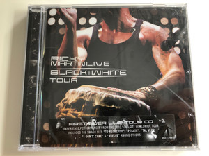 Ricky Martin (Live) – Black And White Tour / Includes The Smash Hits ''Tu Recuerdo'', ''Pegate'', ''Tal Vez'', ''I Don't Care'' & ''Vuelve'' Among Others / Sony BMG Music Entertainment Audio CD 2007 / 8869 717490 2