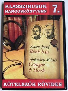 Katona József - Bánk Bán / Vörösmarty Mihály - Csongor és Tünde / Two Hungarian Classics Audio Book / Europa Records Audio CD ERCD9007 / Klasszikusok Hangoskönyvben 7. / Kötelezők röviden (5999557441303)