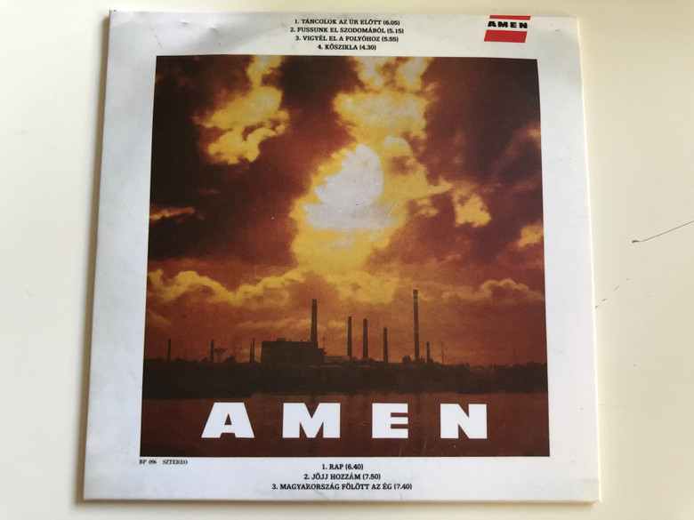 Ámen I. - Pajor Tamás / BP 096 Audio CD 2017 / Ámen 1989 Album / Fussunk el Szodomából, Kőszikla, Jöjj hozzám / Hungarian Christian Rock Band (AMEN1-1989CD)