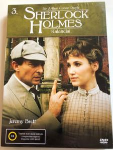 The Adventures of Sherlock Holmes 3 DVD Sherlock Holmes Kalandjai / Written by Sir Arthur Conan Doyle / Directed by Alan Grint, John Bruce / Starring: Jeremy Brett, Derek Marlowe, David Burke / Granada TV Series (5999545585507)
