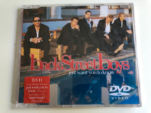 backStreetboys ‎– Just Want You To Know / Jive ‎DVD CD 2005 / 828767203690