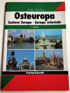 Osteuropa Autoatlas - Eastern Europe Road Atlas - Europe orientale / 1:750000 / Freytag & Berndt / German-English-French Atlas / Ravenstein-Verlag / Paperback (9783850842952)
