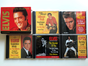 Elvis – The 100 Top-Hits Collection / RCA 5x Audio CD, Box Set 1997 Stereo / 36 428 1