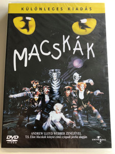 Cats Musical DVD 1998 Macskák Különleges kiadás / Directed by David Mallet / Starring: Elaine Paige, John Mills, Ken Page / Written by & Music by Andrew Lloyd Webber - Based on T.S Eliot's Old Possum's Book of practical cats (5050582239058)