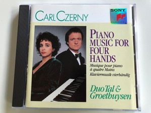 Carl Czerny – Piano Music For Four Hands / Duo Tal & Groethuysen / Sony Classical Audio CD 1991 / SK 45936