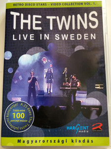 """The Twins DVD 2007 Live in Sweden / Hungarian release - Retro Disco Stars / Video Collection Vol 1. / RM 802 DVD / Retro Media / Extra Bonus Film: """"Journey to Sweden"""" (9638596441122)"""