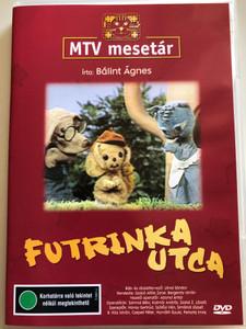 Futrinka Utca DVD MTV mesetár / írta: Bálint Ágnes / 8 episodes of Hungarian Puppet play TV series / Az edzett eb, De jó vicc, Nyuszibaba, Morzsa kutya díványa (5996357311782)