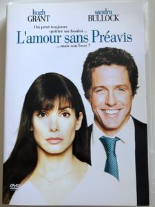 Two Weeks Notice DVD 2002 L'Amour sans préavis / Directed by Marc Lawrence / Starring: Sandra Bullock, Hugh Grant, Alicia Witt, Dana Ivey (7321950234189)