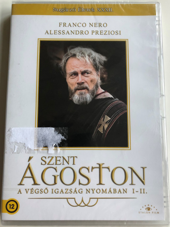 Sant'Agostino DVD 2010 Szent Ágoston - A végső igazság nyomában I-II. / Directed by Christian Duguay / Starring: Franco Nero, Alessandro Preziosi, Monica Guerritore, Alexander Held / AKA Restless Heart: The Confessions of Saint Augustine (5999885039210)