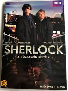 Sherlock TV series - A Study in Pink DVD / Sherlock - A rózsaszín rejtély / Directed by Paul McGuigan / Starring: Benedict Cumberbatch, Martin Freeman, Rupert Graves, Una Stubbs / Season 1 - DVD 1 (5996473014123)