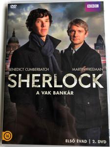 Sherlock TV series - The Blind Banker DVD 2010 Sherlock - A vak bankár / Directed by Euros Lyn / Starring: Benedict Cumberbatch, Martin Freeman, Rupert Graves, Una Stubbs / Season 1 - DVD 2 (5996473014130)