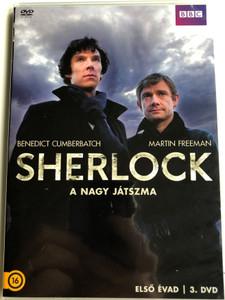Sherlock TV series - The Great Game DVD 2010 / Sherlock - A nagy játszma / Directed by Paul McGuigan / Starring: Benedict Cumberbatch, Martin Freeman, Rupert Graves, Una Stubbs / Season 1 - DVD 3 (5996473014147)