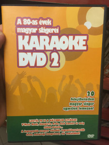 A 80-as évek magyar slágerei - Karaoke DVD 2 - 20 felejthetetlen magyar sláger, egyetlen lemezen! / V moto Rock, Hungária, Első emelet / BHB Music BHB DVD 0002 / Hungarian Greatest hits of the 80's karaoke (5999552650106)