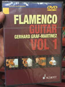 Flamenco Guitar DVD Gerhard Graf - Martinez Vol 1. Schott multimedia / Flamenco Guitar Method - Lessons on DVD, Explanation and presentation of all techniques / Learn Flamenco guitar (841886000483)
