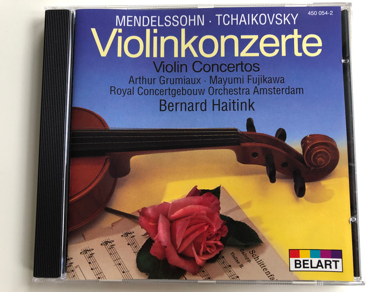 Mendelssohn, Tchaikovsky – Violinkonzerte=Violin Concertos / Arthur Grumiaux, Mayumi Fujikawa / Royal Concertgebouw Orchestra Amsterdam, Bernard Haitink / Belart Audio CD Stereo / 450 054-2
